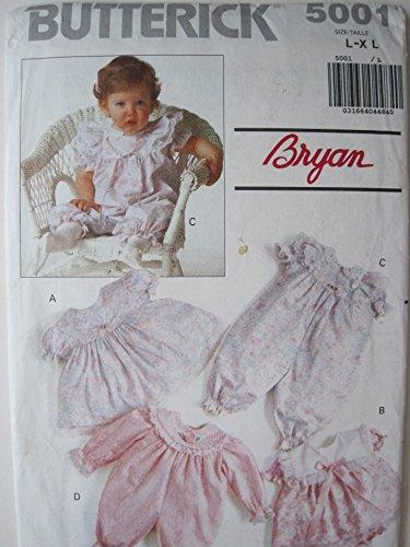 Price comparison product image Butterick Pattern 5001 Bryan Infants' Dress,  Panties,  Party Pants Sizes L-XL