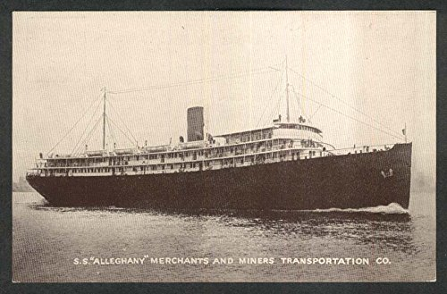 SS Alleghany Merchants & Miners Transportation Passenger Freight postcard 1910s from The Jumping Frog