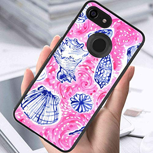 (Cell Phone Case Fit Google Pixel 3 XL [6.3 Version] Seashells Painting)