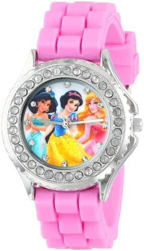 Disney Kids' PN1131 Rhinestone-Accented Disney Princess Watch