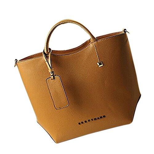 TOOGOO(R) Nuove donne messenger bag delle donne spalla borse in pelle moda donna bag-Borgogna Marrone