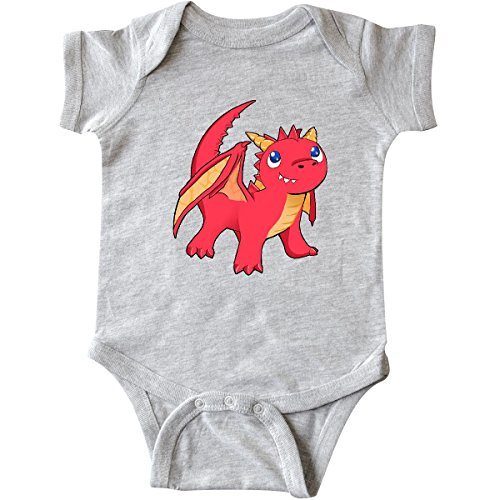 Dragon Infant Creeper (inktastic Cute Baby Red Dragon Infant Creeper 12 Months Heather Grey)