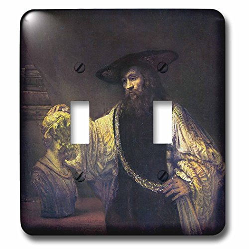 BLN Assorted Works Of Fine Art Collection - Aristotle Contemplating the Bust of Homer by Rembrandt - Light Switch Covers - double toggle switch (lsp_130175_2) -