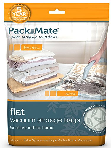 Packmate ® 6 Jumbo Flat Premium Vacuum Compressed Space Saver Storage Bags (35 x 43 inches) For Clothing, Kingsize Duvets, Bedding & More (Space Bag Under Bed compare prices)