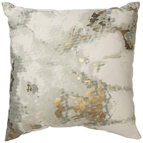 (Urban by Design Metallic Marble Foil Printed Decorative Throw Pillow with Inner Cushion 12x12)