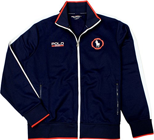 UPC 889425114307, Polo Sport Men's Cotton Blend Full-Zip Jacket, French Navy, Large