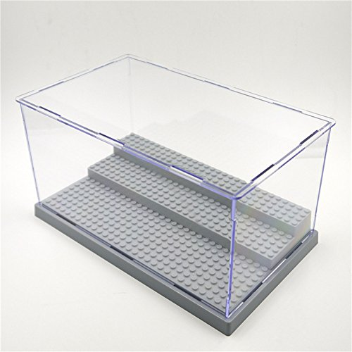 3 Steps Clear Acrylic Display Case Dustproof Tray Protection Toys DIY Box by KTBG