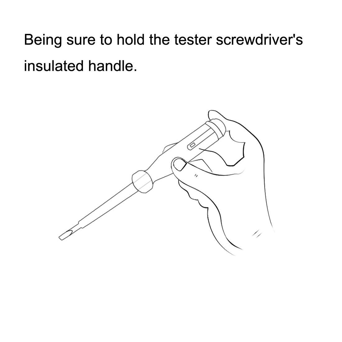 3mm Slot Voltage Tester Pen Screwdriver AC 100-500V 4pcs sourcing map Circuit Tester