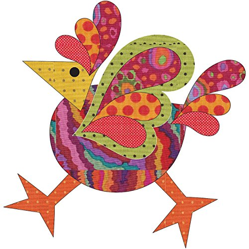 (Quilting Creations Laser Cut Fusible Funky Chicken 4 Large Dotz Applique)