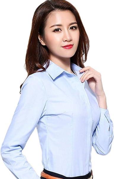 Blusas Y Camisas para Mujer Blusa Manga Larga Overol Profesional@Azul_XL: Amazon.es: Ropa y accesorios
