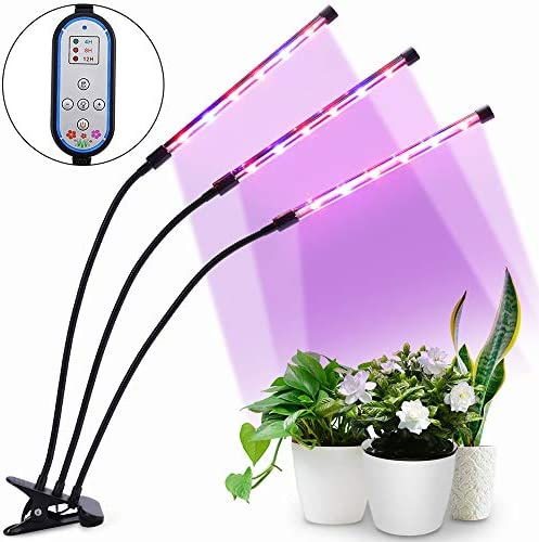 Grow Light, HALUM Plant Grow Light 36W Cycle Timing with Red Blue Spectrum, 8 Dimmable Levels Growing Lamp, Auto ON and Off with 4 8 12H Timer for Indoor Plants
