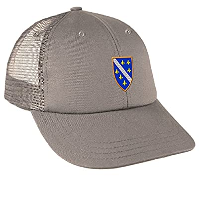 Bosnia War Flag Embroidery Design Low Crown Mesh Golf Snapback Hat
