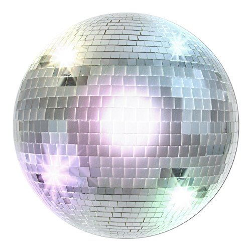Club Pack of 24 Silver Retro 70's Themed Disco Ball Cutout Party Decorations 13.5