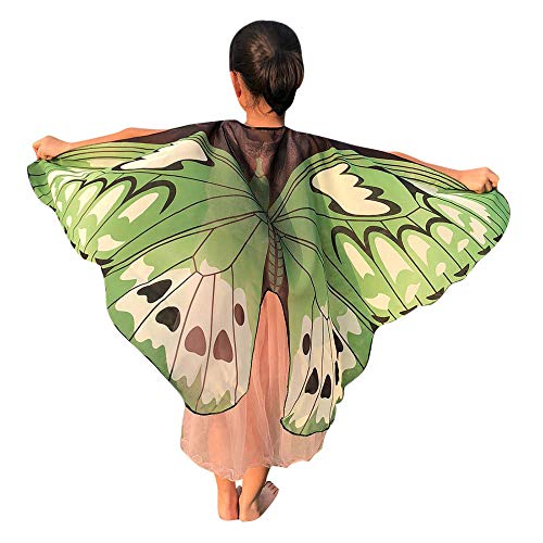 Halloween Party Soft Butterfly Wings Shawl Fairy Ladies Pixie Costume Accessory(AY,one -