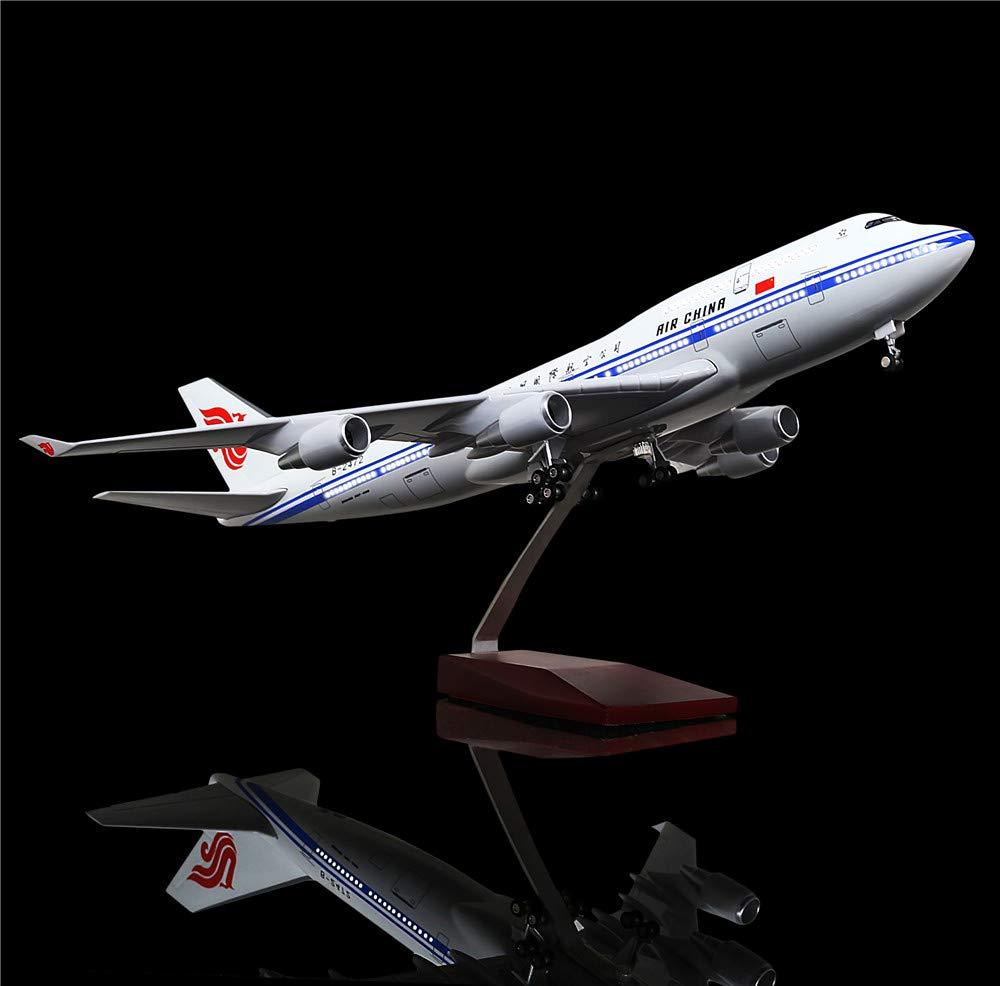 超爆安  LESES B07KTNBJN4 1:130スケール LEDライトモデル 飛行機 中国ボーイング 飛行機 747 18インチ 樹脂ディスプレイ飛行機モデル 1:130スケール B07KTNBJN4, フジオカマチ:830a76ad --- wap.milksoft.com.br