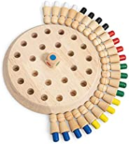 New Children Wooden Memory Matchstick Chess Game, Educational Intelligent Logic Game and Brainteaser Children