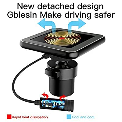 Magnetic Wireless Car Charger,Gblesin 5W 7.5W 10W Qi Fast Charging Car Charger Magnetic Car Mount Air Vent for iPhone 11 Pro X XS MAX XR 8 Plus and Samsung Galaxy S10 Plus/S10/S9+/S8+ and More: Home Audio & Theater