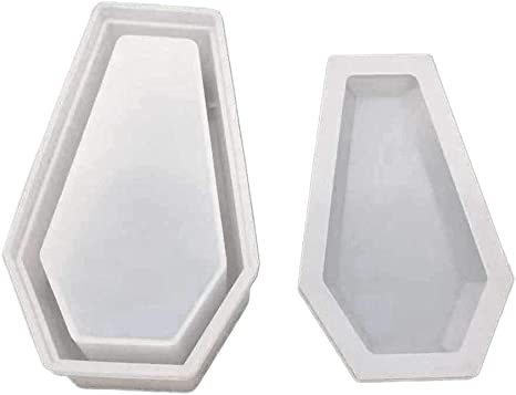 Box Crystal UV Epoxy Resin Mold Coffin Box Jewelry Making Tools Silicone Mould