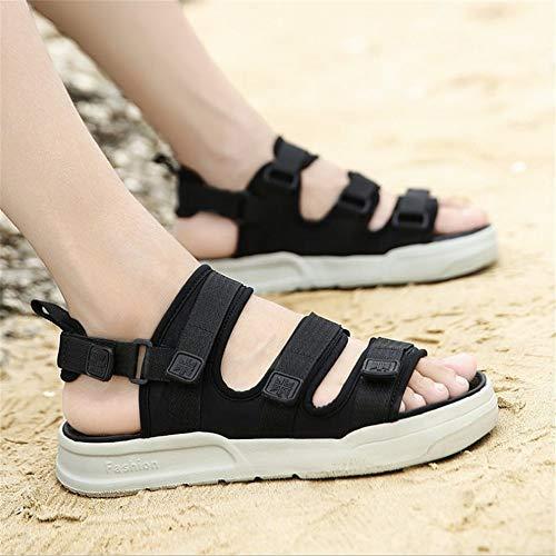 Wagsiyi Uomo Da Casual da Sandali spiaggia Da Dimensione Sandali pantofole Nero Sandali Colore 42 Casual Traspiranti Scarpe EU Uomo Nero nqSrw7qYIF