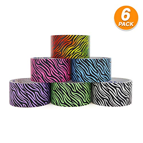 Emraw Heavy Duty Duct Tape Great for Scrapbooking, Decorating for Girls, Boys & Kids DIY Arts & Crafts Kit Home School Supplies (Pack of 6)