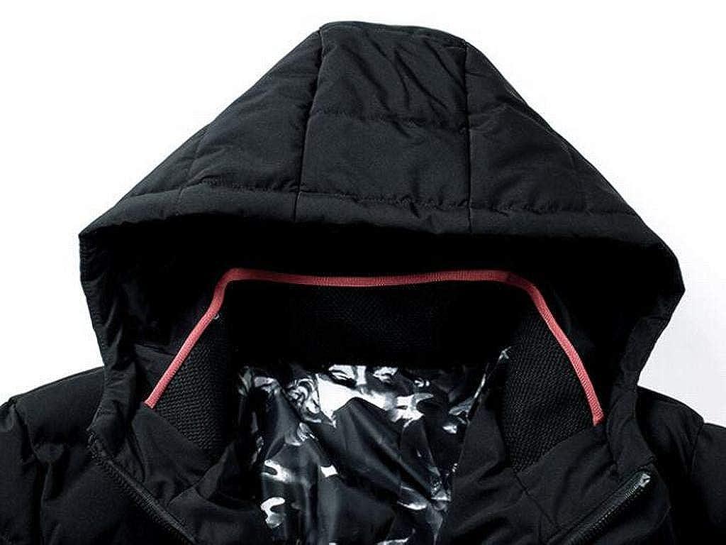 pipigo Mens Slim Fit Thicken Winter Warm Hoodie Down Quilted Coat Jacket Overcoat