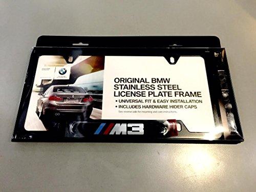 BMW M3 Logo Black Stainless Steel License Plate Frame