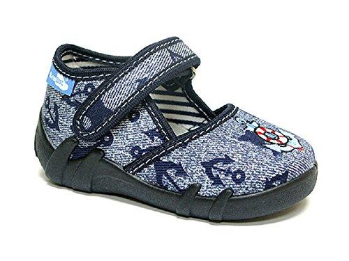 Yaro - Zapatillas de estar por casa de algodón para niño 105/Anker