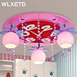 Leihongthebox Ceiling Lights lamp Children's Room ceiling Ceiling lamp lights Boys Girls Princess crystal LED clock for Hall, Study Room, Office, Bedroom, Living Room,500mm