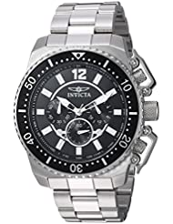 Invicta Mens Pro Diver Quartz Stainless Steel Casual Watch, Color:Silver-Toned (Model: 21952)
