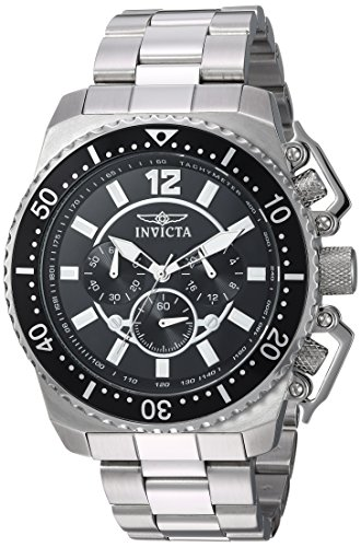 Invicta Men's Pro Diver Quartz Watch with Stainless-Steel Strap, Silver, 24 (Model: 21952) ()