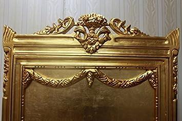 AlVi0250GoRtGesch a Antik Vitrine 4 Holzböden goldfarben komplett geschlossen