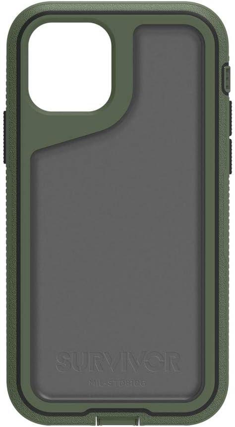 Griffin Survivor Extreme Case for Apple iPhone 11 - Bronze Green/Black/Smoke - GIP-032-GBK