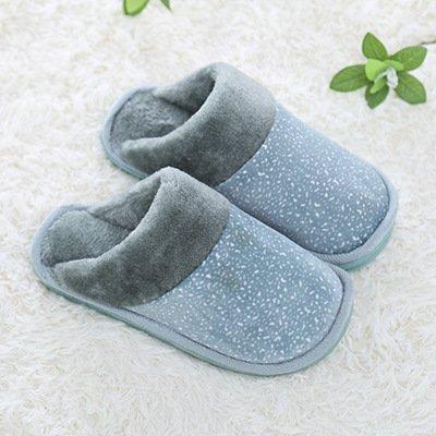 Cotone fankou pantofole coppie soggiorno multi-colore di spessore, antiscivolo pantofole di cotone coppie e ,3839, Grigio