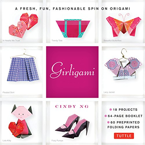 - Girligami Kit: A Fresh, Fun, Fashionable Spin on Origami: Origami for Girls Kit with Origami Book, 60 High-Quality Origami Papers: Great for Kids!