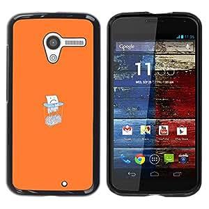 Caucho caso de Shell duro de la cubierta de accesorios de protección BY RAYDREAMMM - Motorola Moto X 1 1st GEN I - Triste Triturado De Papel