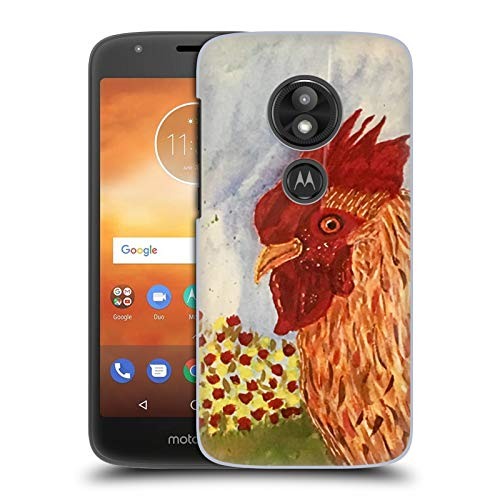 Official Cathy Standridge Rooster Portraits Hard Back Case Compatible for Motorola Moto E5 Play
