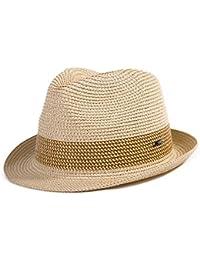 Fedora Straw Fashion Sun Hat Packable Summer Panama Beach Hat Men Women  56-62CM c0376d35324b