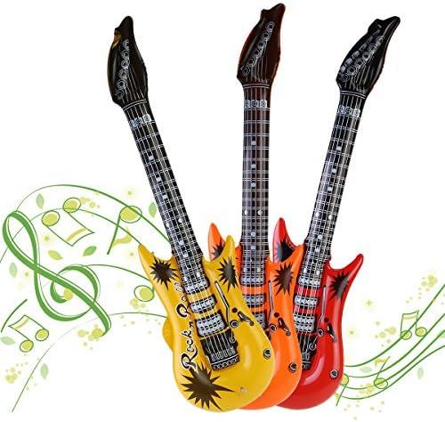 Amazon.com: NUOLUX 12pccs Juguete Inflable Guitarra ...