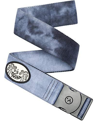 Dye Wash - Arcade Belt Mens Adventure Rambler Belts: Heavy Duty Elastic Webbing, Non-Metal Travel Friendly Buckle, Dye Wash/Palms