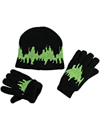 N'Ice Caps Big Kids 7-10 Years Glow in the Dark Knitted Hat and Glove Set