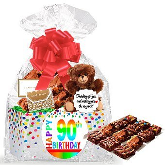 90th Birthday Gourmet Brownie Gift Basket