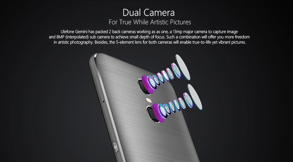 Ulefone - Smartphone Gemini 4 G. Pantalla táctil de 5,5 pulgadas (14 cm) FHD. Con batería de 3250 mAh, 3 GB RAM + 32 GB ROM, Dual SIM, cámara de 5 MP/13MP ...