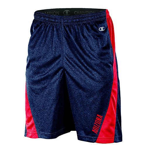 Champion (CHAFK) NCAA Arizona Wildcats Adult Men Training Short with Contr, XX-Large, Navy (Ncaa Champions)