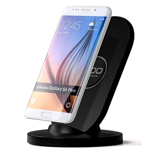 iDOO Qi-Ladegerät/ Wireless Fast Charger/ induktives Ladegerät mit Schnell-Ladefunktion/ drahtlose Ladestation mit Schnell-Ladefunktion für Galaxy S7, S7 Edge, Note5 und S6 edge plud und Standard-Ladefunktion für Galaxy S7, S7 Edge, Note5 , S6 edge plus Und S6 edge, S6.