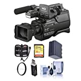 Sony HXR-MC2500 AVCHD Shoulder Mount Camcorder, 1/4'' Exmor R CMOS HD, SD AVCHD - Bundle With 32GB U3 SDHC Card, Spare Battery, 37mm UV Filter, Cleaning Kit, Card Reader, Memory Wallet