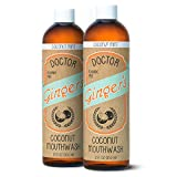 Dr. Ginger's Coconut Oil Pulling & Whitening Mouthwash (All Natural, No Sugar, No Fluoride, No Artificial Flavors or Sweeteners) (2-Pack)