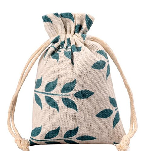 Meta-U Burlap Bags With Drawstring- Storage Bag- Sachets Bag- Gift Pouch For Party | Wedding-12pcs (1723cm(6.89.2), leaf) by Meta-U