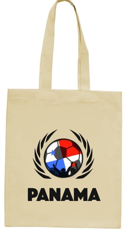 ShirtStreet Wappen Fussball WM Fanfest Gruppen natur Jutebeutel Stoffbeutel Tote Bag Fußball Panama, Größe: onesize,natur