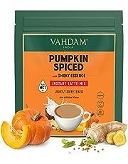 VAHDAM, INSTANT Pumpkin Spiced Chai Tea Latte (160g / 5.64oz) | INSTANT Smoky Pumpkin Chai Tea Powder Mix with Vegan Coconut Milk | Only 45 Calories Per Serving | 20 Servings