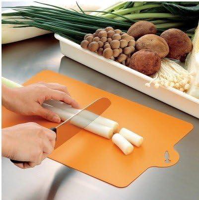 LSGDSXMIY Tagliere da cucina muffa pieghevole tagliere leggero e morbido in grado di appendere tagliere tagliere di frutta arancione